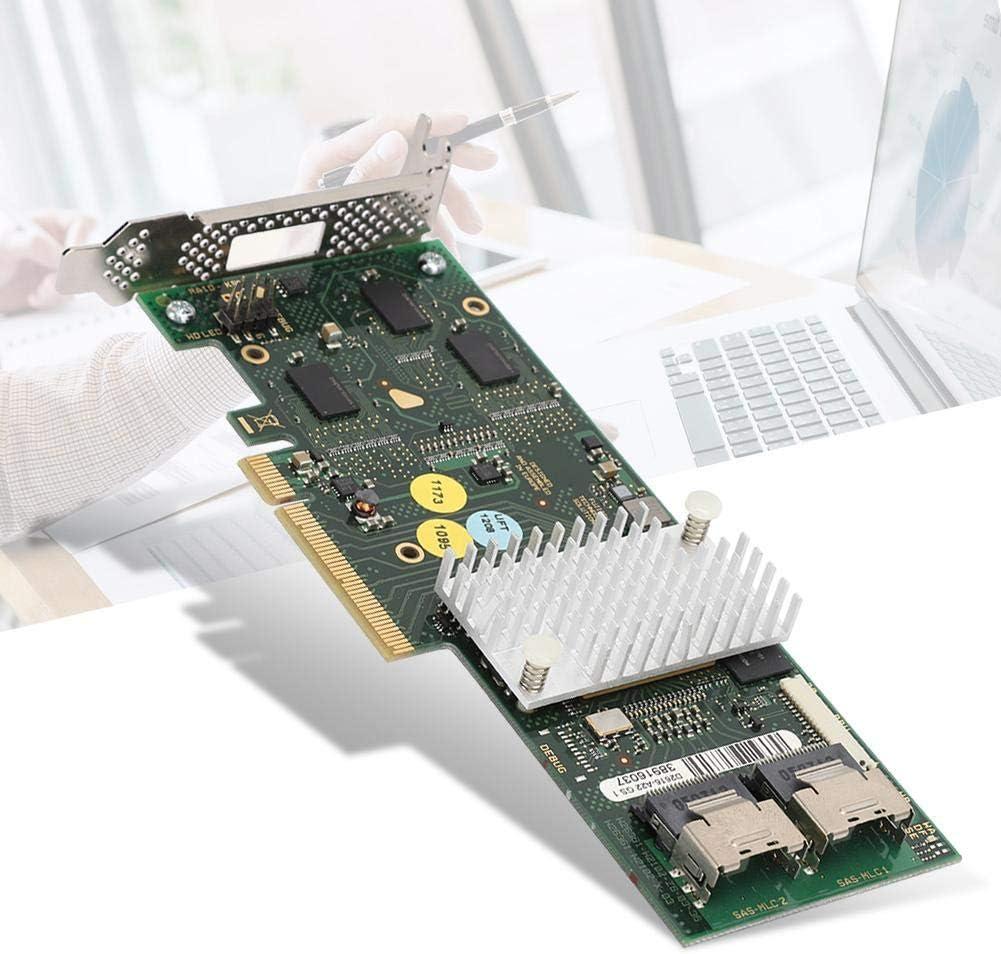 Bewinner1 Mini-SAS SFF-8087 x4 Connector, SAS2108 SATA/SAS Raid Cache Controller Card Eight Internal SATA + SAS Ports, Smart Array Card Low Baffle 512MB DDRII Cache