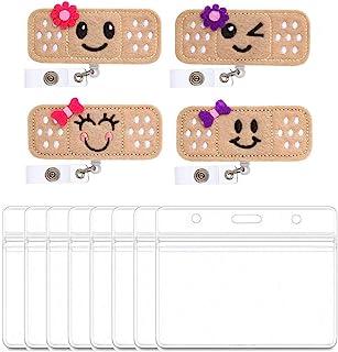 YZCX Porte-badges avec Clip Rétractable, Porte-carte d'identité pour Infirmières Bénévoles Étudiants Enseignants (Style 1)