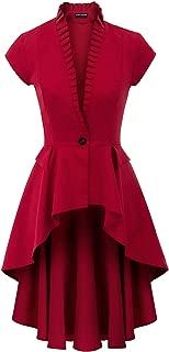 SCARLET DARKNESS Womens Gothic Steampunk Jacket Long Victorian Waistcoat Jacket Top