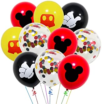 Mickey Mouse Happy Birthday Banner Decorations Kit Mickey Mouse Banner Tie Hat for Baby Birthday Party Mickey Mouse Theme Party Supplies Aiernuo