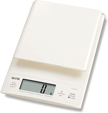 Tanita KD-320WH Digital Kitchen Scale 3Kg with Tare Function - White