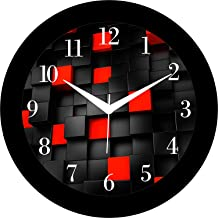 JaipurCrafts Designer Modern Art Plastic Wall Clock for Home/Living Room/Bedroom/Kitchen- 12 in (with Ajanta Movement)