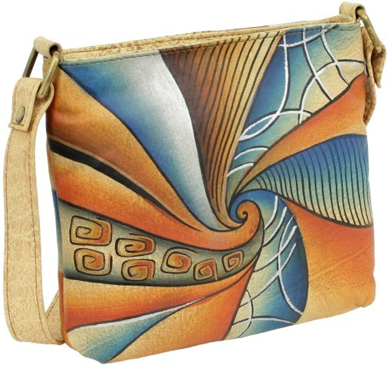 Geschenkset - exklusiver Grünland Nature Schlüsselanhänger + Art & & & Craft Mini Bag XS Umhängetasche Handtasche Schultertasche Damentasche Leder 16cm handbemalt B00H391H6C  Vollständige Palette von Spezifikationen c7a80c