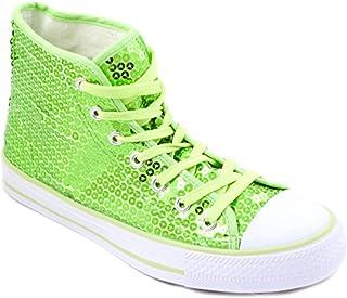 Party-Factory-Ladenburg Chaussures à paillettes pour homme et femme Vert fluo Taille 36-42