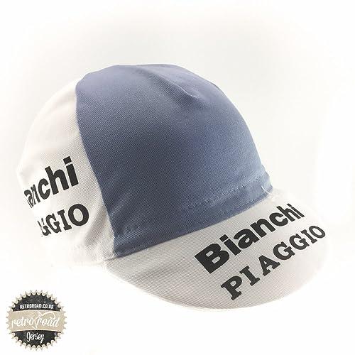 Retro cycle team cap Vintage fixie Bianchi Piaggio White