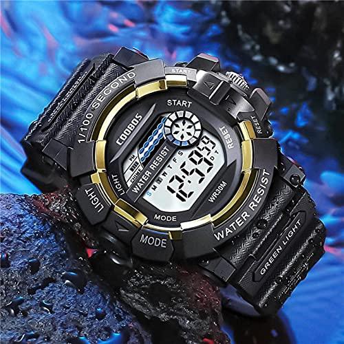 Cool Luminous Men Sport Watch High-end Silicone Strap Military Wrist Watch Led Calendar Waterproof Digital Watchrelojdehombre