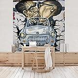 Apalis Vliestapete 1989 Fototapete Quadrat   Vlies Tapete Wandtapete Wandbild Foto 3D Fototapete für Schlafzimmer Wohnzimmer Küche   Größe: 192x192 cm,...