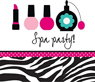 16-Count Paper Lunch Napkins, Pink Zebra Boutique Spa Party