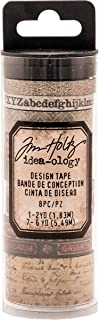 Tim Holtz Idea-ology Aristocrat Design Tape 8-Roll Variety Pack of Washi Tape in Vintage Themes, (TH93359)