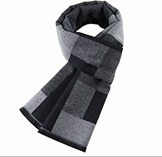 Winter Fashion Men's Scarf Jacquard Scarf Mens Acrylicl Plaid Scarf,Perfect Accent to Any Outfit (Color : 03, Size : 180cm*31cm)