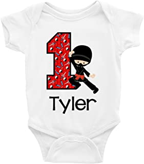 Baby Boys' Ninja 1st Birthday Outfit or Shirt | Personalized with Any Name