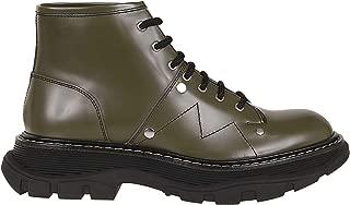 ALEXANDER MCQUEEN Luxury Fashion Womens 595469WHQS11040 Green Ankle Boots |