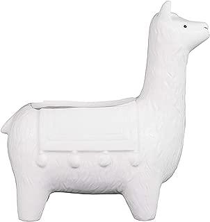 white llama planter