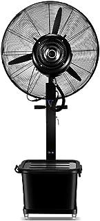 Enfriamiento de ventiladores industriales, ventilador de pedestal, alta velocidad, metal resistente para uso industrial, comercial, residencial, de invernadero, negro