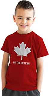 Youth Eh Team Canada T Shirt Funny Canadian Shirts Kids Novelty T Shirt Hilarious