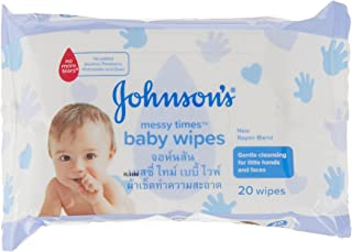 Johnson's Baby Messy Times Wipes, 20 Sheets