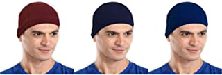 The Blazze Cotton Helmet Cap (Free Size, Maroon+Navy+Royal Blue)
