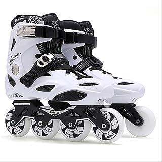 ZLSANVD Roller Skates Adults Inline Skates Freestyle Slalom Roller Boots Rocked Wheels Skate Skating Women Men 42 White