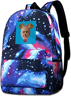 Galaxy Printed Shoulders Bag Jeremy Corbyn Dog Snapchat Filter Fashion Casual Star Sky Backpack For Boys&girls
