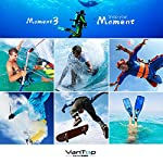 VanTop Moment 3 4K Action Camera w/Gopro Compatible Carrying Case,Remote Control,16MP Sony Sensor,30M Waterproof Camera… 13 【Stunning 4K Technique & Superb Sony Sensor】Optional 4K@30fps, 2.7K@30fps,1080P@60fps,720P@120fps resolutions, high sensitive Sony sensor with improved image focusing, processing speeds. Moment 3 action camera empowers you to capture any memorable moment without any compromise. Stunning 4K video and 16MP photos in Single, Burst and Time Lapse modes. 【Irresistible & Indispensable Accessories】Exclusively customized carrying case for the action camera and accessories: compatible with all Gopro cameras including Gopro HERO 7, Gopro HERO 6. Compact case to keep your action camera-Moment3 and accessories safe, protected and organized. Selected 21 gopro compatible accessories awaits your discovery. (SD Card excluded) 【170°Ultra-Wide Lens & Multiple Modes】Discover a big big world your eyes can reach with the intergraded 170 degrees ultra-wide lens. Burst Shooting, loop recording makes it possible to find the perfect moment afterwards. Time-lapse and slow motion exceed human vision with surprising fun.