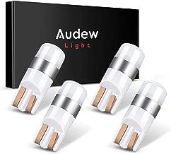 Audew W5W T10 Canbus LED Bombillas Coche SMD3030 6000K IP65 para Luz Posicion, LED Matricula Coche y Exterior Xenón Blanco 4 Unidades