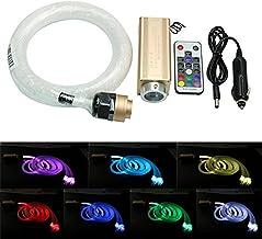 telecomando a 28 tasti RF Kit lampada decorativa a effetto cascata a 16W a fibre ottiche di camera sensoriale per autismo bambini e disabili fibra flash point 300pcs * 0.03in // 0.75mm * 9.8ft // 3m