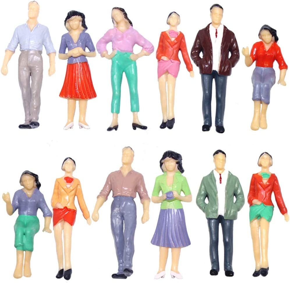 HSJWOSA Commendatory 12pcs Model Trains Scale All items in the store Well-Painted 1:25 Cheap bargain