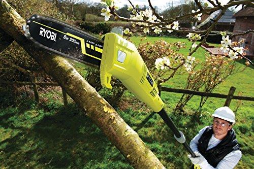 Ryobi RPP750S Pole Pruner with Extension Pole, 750 W - Hyper Green