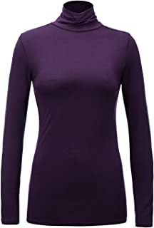Regna X Women's Long Sleeve Lightweight Turtleneck Top Pullover Sweater (S-3X, We Have Plus Sizes)