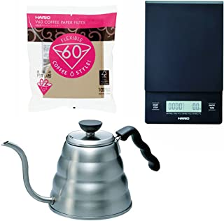 Hario V60 - 1.2 Liter Kettle, Scale & 100 Filters All Sold Together
