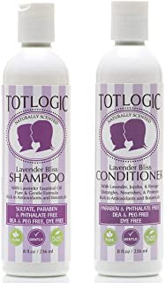 Sponsored Ad - TotLogic Kids Shampoo & Conditioner Set - Sulfate and Paraben Free, Phthalate Free, Non-Toxic Plant Based N...