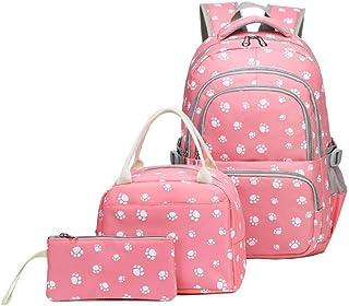 MITOWERMI Cartoon Dog Paw Prints School Backpacks For Girls Kids Elementary School Bags Bookbag