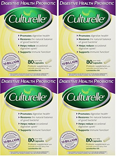 Culturelle Digestive Health Probiotic - RyYUmu, 2Packs (160 Capsules)