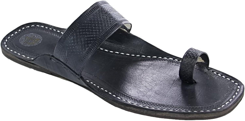KOLHAPURI CHAPPAL Original Overwhelming Black Embossed Straight Belt for Women Slipper Sandal