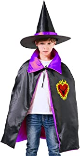 Game of Thrones Stannis Baratheon Sigil Stagg in A Heart of Flames Unisex Kids Hooded Cloak Cape Halloween Party Decoration Role Cosplay Costumes Outwear Purple