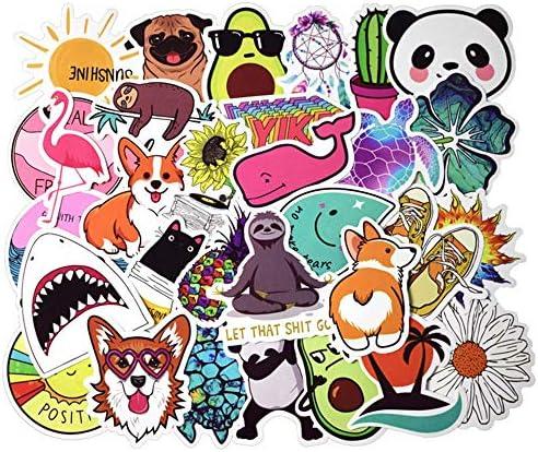FEZZ 50 Piezas Stickers Party Stickers Kids Cartoon Graffiti Calcoman/ías Vinilo para Laptop Coche Moto Monopat/ín Bicicleta Equipaje iPhone Stickers Graffiti Impermeable (ne/ón)