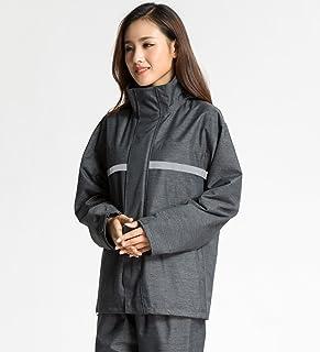 ZEMIN ポンチョ レインウェア レインコート ポンチョ ウインドブレーカー 防水 カバー グハイキング、3色、4サイズ (色 : Gray, サイズ さいず : XL)