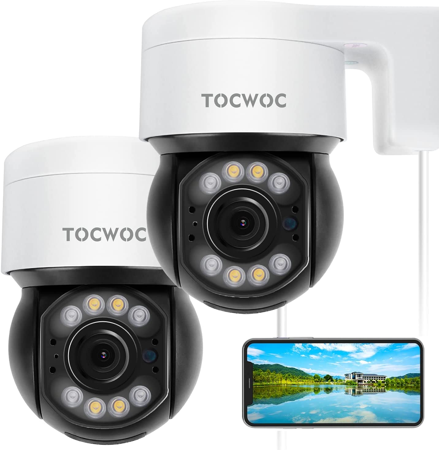 5MP Outdoor Security Gorgeous Camera 2560×1920 Home Columbus Mall TOCWOC Surveillan