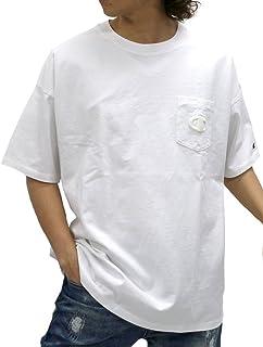 [チャンピオン] Tシャツ ビッグ シルエット ブランド ロゴ 刺繍 ポケット 付き カットソー 半袖 メンズ