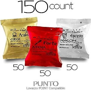 Caffe POMPEII - PUNTO - Lavazza Espresso Point Brewer Machine Compatible Coffee Capsules (VARIETY 3, 150 capsules)