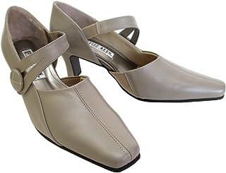[フィズリーン] fizzreen 8970 レディース パンプス 牛革 甲ベルト 仕事靴 通勤靴 日本製 グレージュ