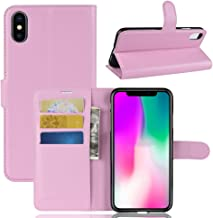 iPhone XR Wallet Case,PU Leather Phone Case [Card Slot] [Flip] [Stand] Carry-All Case [TPU Interior Protective Case] [Magnetic Closure] for iPhone XR, Pink