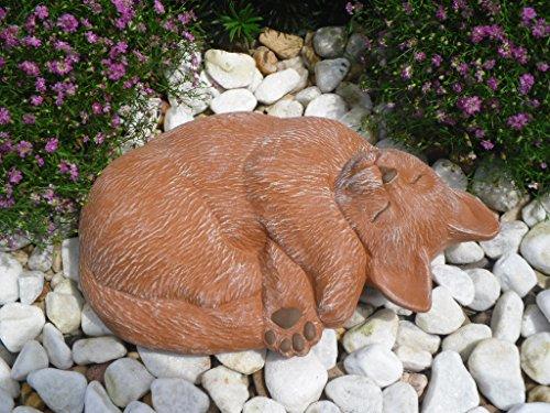 Steinfigur Katze, 130/3 Gartenfigur Steinguss Tierfigur Terrakotta Patina