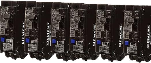 Siemens QA115AFC 15-Amp Single Pole 120-volt Plug-On Combination AFCI Breaker, 6 Pack