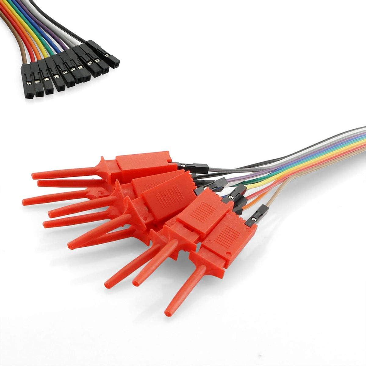 Max 47% OFF MagicShell Red Test Probe Hook 10 Mini Grabber Flat 1 in Logic security