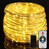 66ft LED Rope Lights Outdoor, OxyLED 300 LED String Lights with Remote, IP65...