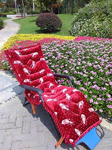 ZGYQGOO Coussin Chaise Longue extérieur, Coussins Chaise Patio, Coussins Chaise transat, Matelas Chaise Longue pour canapé Jardin, Banc Voiture Tatami (Coussin Uniquement) -GG 48x145cm (19x57inch)