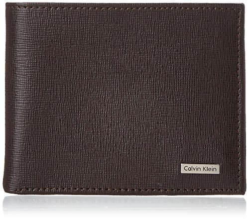 Calvin Klein Men's Calvin Klein Passcase Wallet, Brown, One Size