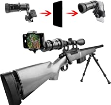 SOLOMARK Rifle Scope Smartphone Adapter, Quick Telescopic Focus Adjuster and Wrap Gun Scope (Out Diameter of Eyepiece Within 37-46mm) Adapter Record Hunting Moment by Phone