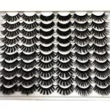 Pooplunch False Eyelashes 30 Pairs 6 Styles Natural Faux Mink Lashes Volume Fake Eye Lashes Thick Crossed Fluffy Volume Soft Reusable Lash Pack